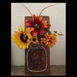 String art mason jar sunflowers